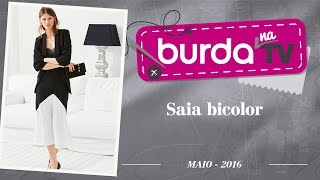 Burda na TV 90 – Saia bicolor