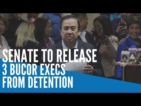 Senate to release 3 BuCor execs from detention