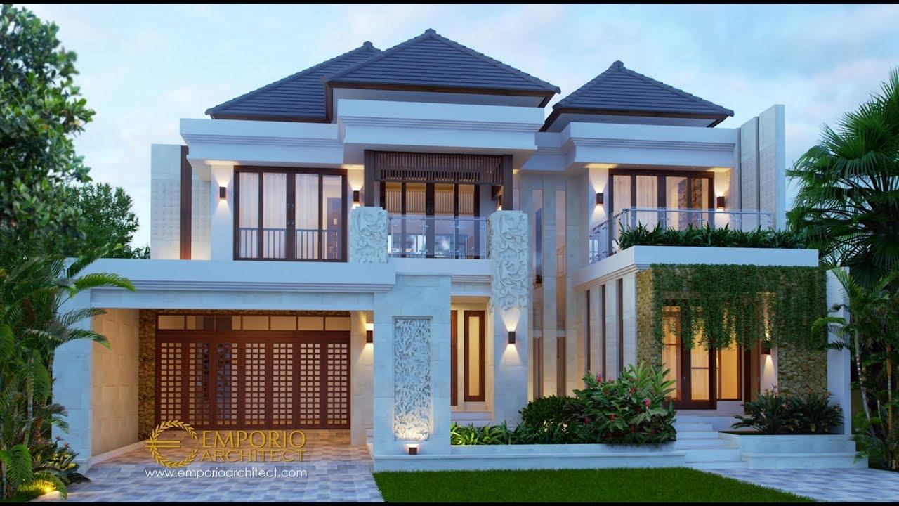 Video 3D Desain Rumah Villa Bali 2 Lantai Bapak Sigit - Madiun, Jawa Timur