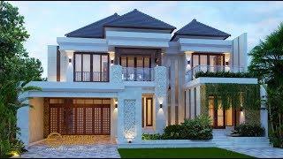 Video Desain Rumah Villa Bali 2 Lantai Bapak Sigit di  Madiun, Jawa Timur