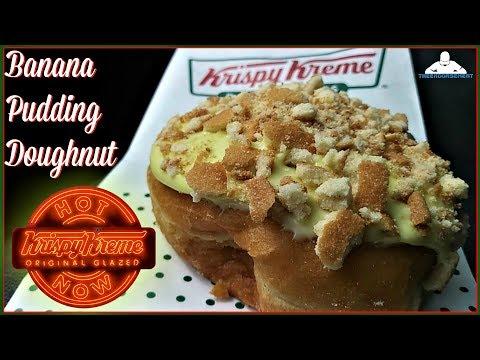 Krispy Kreme® | Banana Pudding Donut Review! 🍌🍮🍩