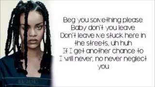 Rihanna - Work lyrics video.
