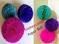 Paper Honeycomb Ball || Honeycomb Ball || How To Make Honeycomb Pom Pom || Wedding Decoration Ideas