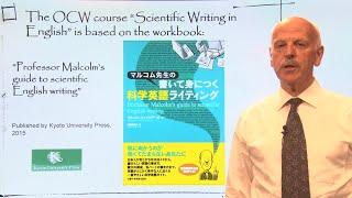 """京都大学OCW英語による科学論文の書き方""""ScientificWritinginEnglish""""マルコム・フィッツアールMalcolmFitz-Earle教授Part01"""