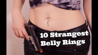 10 Belly Ring Try On Haul From Pierced Universe