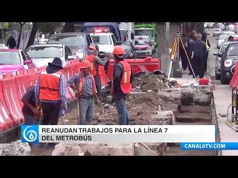 Reanudan los trabajos para la construcción de la Línea 7 del Metrobús
