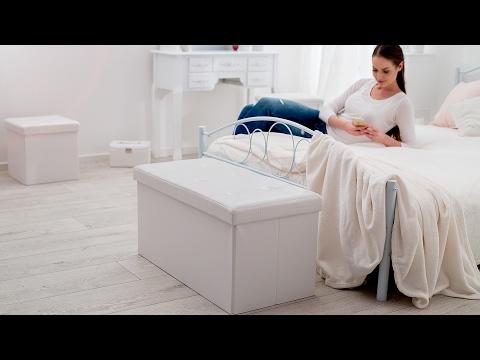 Sitzhocker aus Kunstleder | TecTake