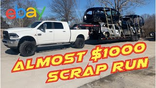 SCRAPPING CARS FOR CASH   eBay Business   Used Auto Parts   recycling scrap metal   salvage cars  