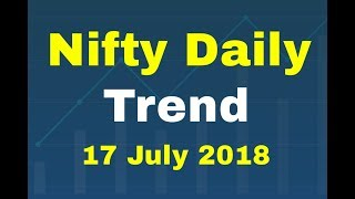 Nifty Chart Today 17 July 2018 Technical Analysis for Daily Trend prediction NSE Index Update
