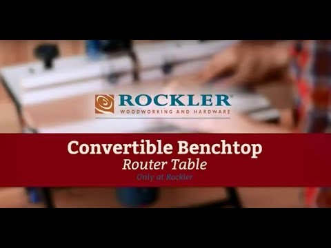 Convertible Benchtop Router Table (Full Length)