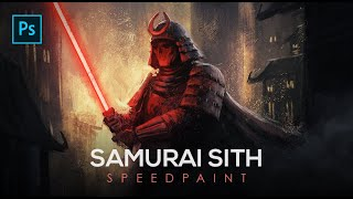 The Samurai Sith - Star Wars Digital Painting Photoshop Tutorial