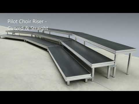 How to assemble PILOT Choir Riser Portable Stage by Select Staging Concepts