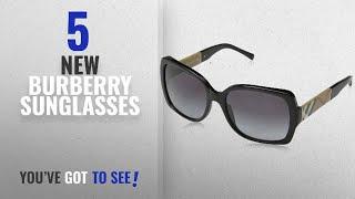 b7c02f2b0988 Top 10 Burberry Sunglasses   Winter 2018    Burberry BE4160 34338G Black  BE4160 Square Sunglasses