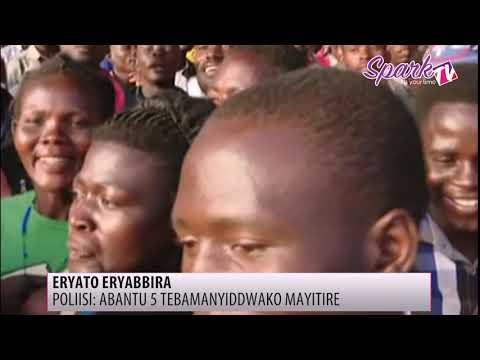 Poliisi egamba abantu 5 abaali ku lyato eryabbira tebakubikako kyamulubaale