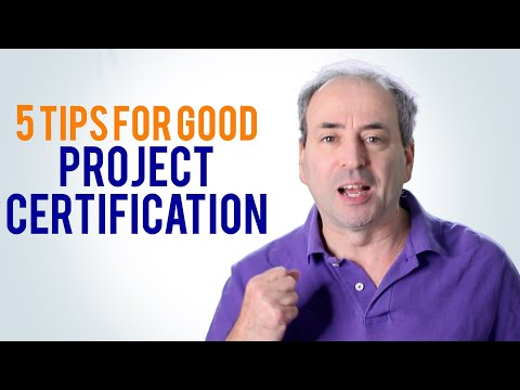 Certification for Project Managers - 5 Tips - YouTube
