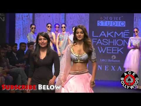 Niddhi Agerwal in Sexy Bridal Outfits at LFW 2018