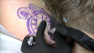 Rose watch tattoo - time lapse