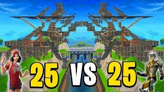25 VS 25 EN SERVEUR PRIVE SUR FORTNITE BATTLE ROYALE !!!
