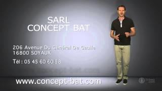 preview picture of video 'SARL CONCEPT BAT : construction, rénovation, aménagement à SOYAUX 16'
