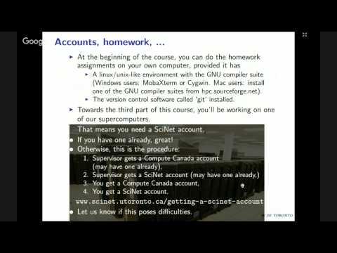 Scientific Computing - Lecture #1 - YouTube