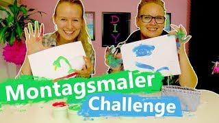 DIY Inspiration Challenge   Montagsmaler mit Fingerfarben   Wer errät am schnellsten die Begriffe?