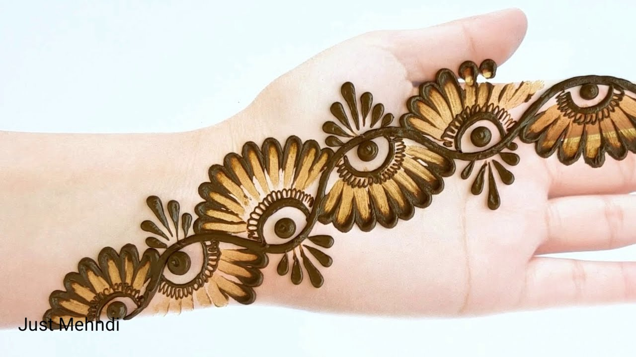 simple & easy mehndi designs using cotton budfront hand by just mehndi