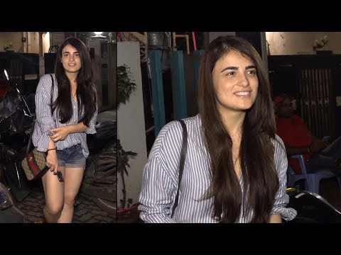 Radhika Madan spotted @ Bblunt Salon post the Trailer Launch of PATAKHA