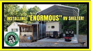 Having Enormous RV Shelter Installed