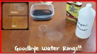 Removing white water rings and heat stains from wood furniture | THE ULTIMATE GUIDE | NEW VERSION