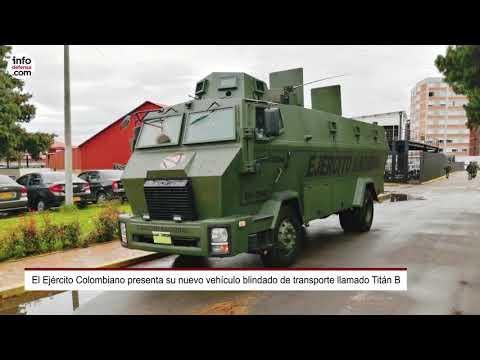 El Ejército Colombiano presenta su nuevo vehículo blindado de transporte Titán