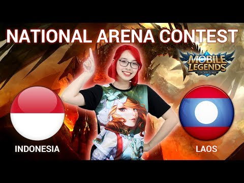 INDONESIA VS LAOS - National Arena Contest Cast By Kimi Hime - 07/02/2018