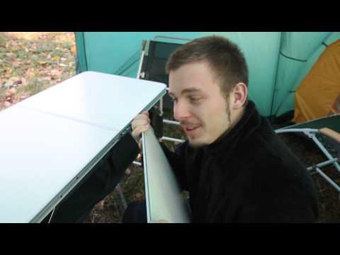 Стол складной с полками Greenell FT-5. Видеообзор.