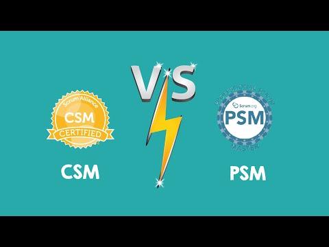 PSM vs CSM | Certified Scrum Master(CSM®️) vs Professional ...