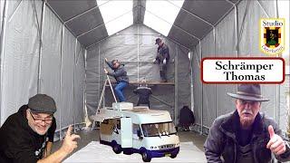 Wohnmobil Wohnwagen Zelt als Garage