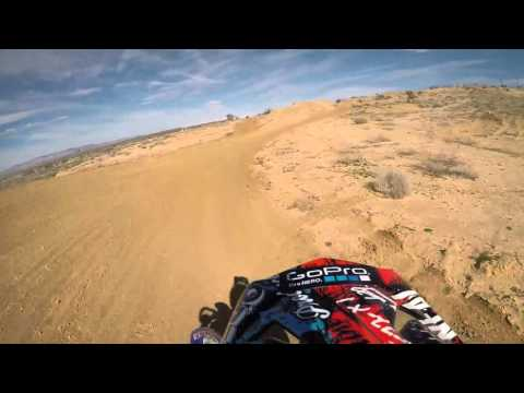 Yamaha WR250F Sneaking onto a Motocross track / trail riding (First time ever on a Mx track)