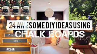 24 ways how to decor using Chalkboard paint