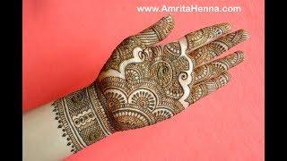 TRADITIONAL RAJASTHANI BRIDAL HENNA MEHNDI DESIGN | FULL HAND MARWARI MEHENDI FOR INDIAN WEDDING