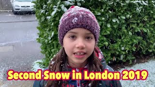 SECOND SNOW IN LONDON 2019 | Amelie Rose