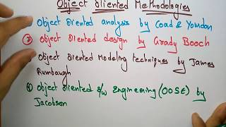 object oriented methodologies in ooad | part-1