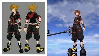 Concept Art color Outfit for Sora - KH3 mods