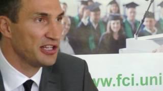 """Wladimir Klitschko: """"Bin stolz auf meine Studenten"""""""
