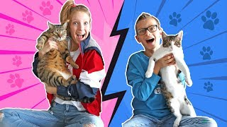 Our Cats Pick Our Slime Ingredients Challenge !!!