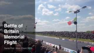 preview picture of video 'Santa Pod Main Event 2013 - Battle of Britain Memorial Flight fly-past'