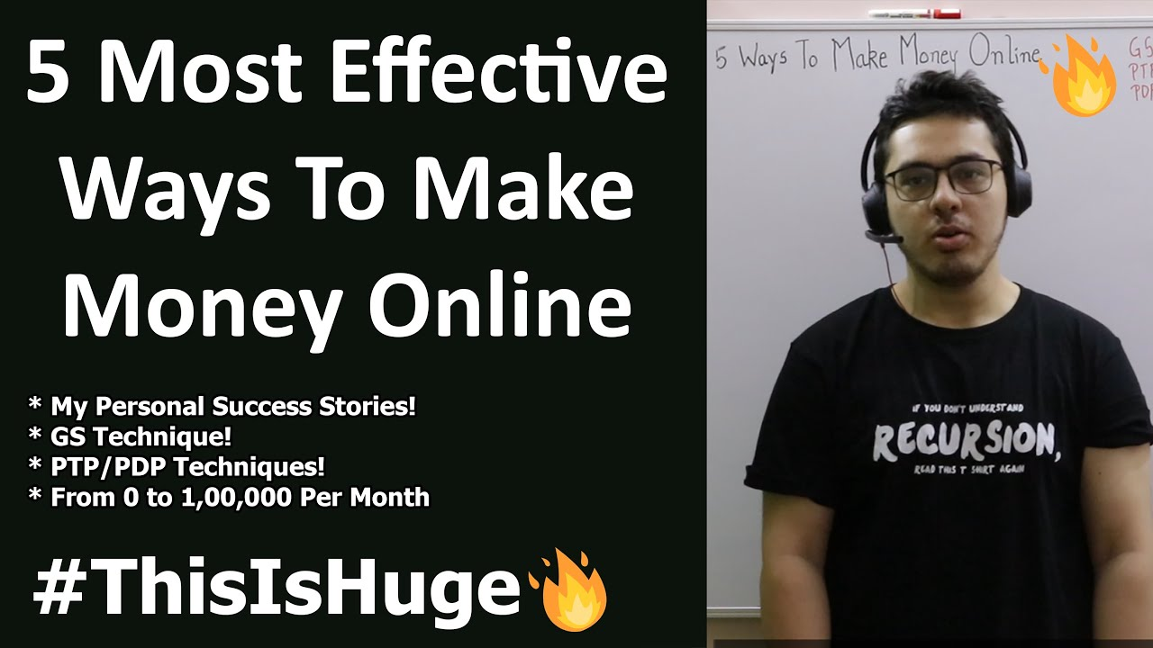 5 Efficient Ways to Earn Money Online (More Than Jobs) thumbnail