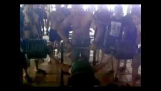 preview picture of video 'đẩy tạ mức 200kg.(club the duc tham mỹ tuyen quang Tp tuyên quang)'