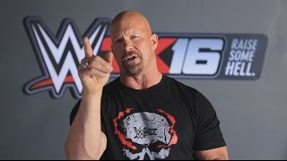 WWE 2K16 Stone Cold Smoking Skull T-Shirt