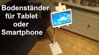 LONGKO Tablet Halterung für Tablet und Smartphone Halter 360 Grad Drehbar Verstellbar
