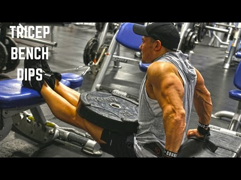 Weighted Three Bench Dips
