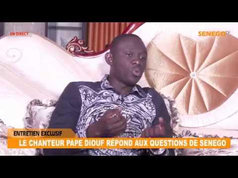 LE CHANTEUR PAPE DIOUF RÉPOND AUX QUESTIONS DE SENEGO