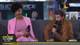 Oscar Isaac & Naomi Ackie Take The Stage At SWCC 2019   The Star Wars Show Live!